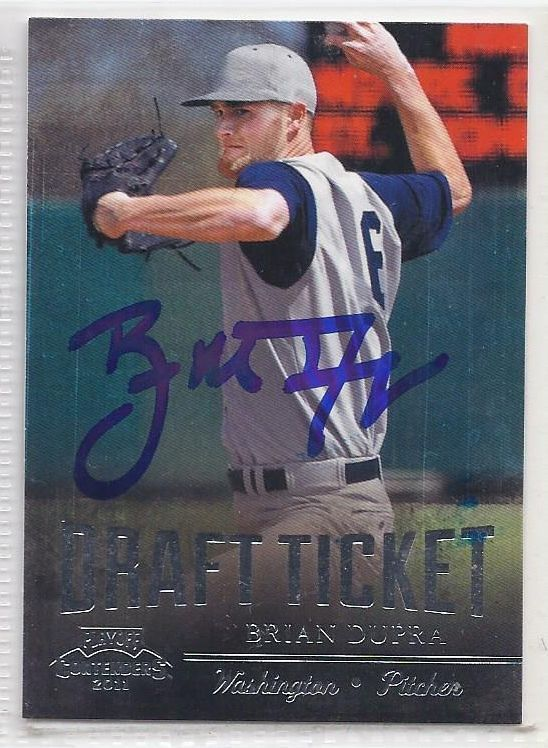 Brian Dupra Signed Autographed Card 2011 Playoff Contenders