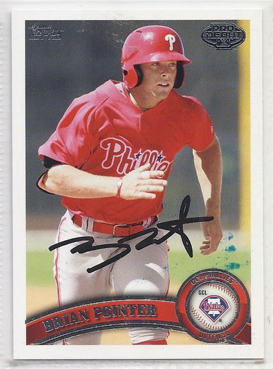 Brian Pointer Signed Autographed Card 2011 Topps Pro Debut