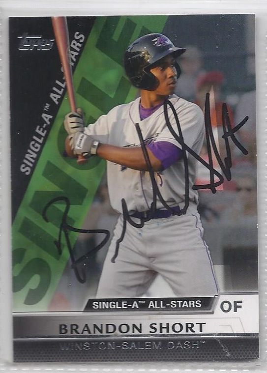 Brandon Short Signed Autographed Card 2011 Topps Pro Debut Single A All Stars
