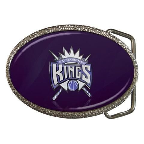 Sacramento Kings Chrome Belt Buckle - NBA Basketball