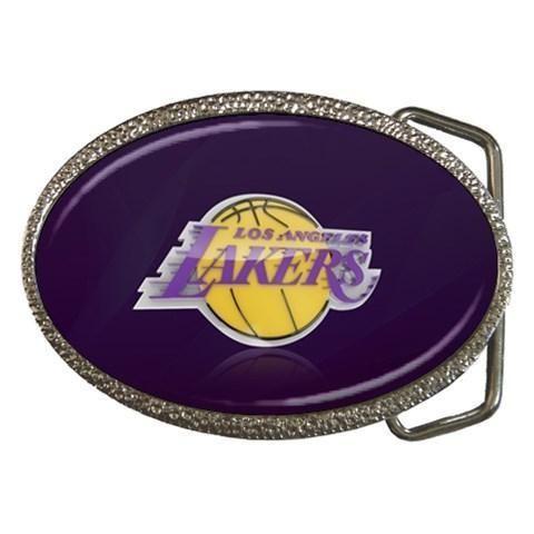 LA Lakers Chrome Belt Buckle - NBA Basketball