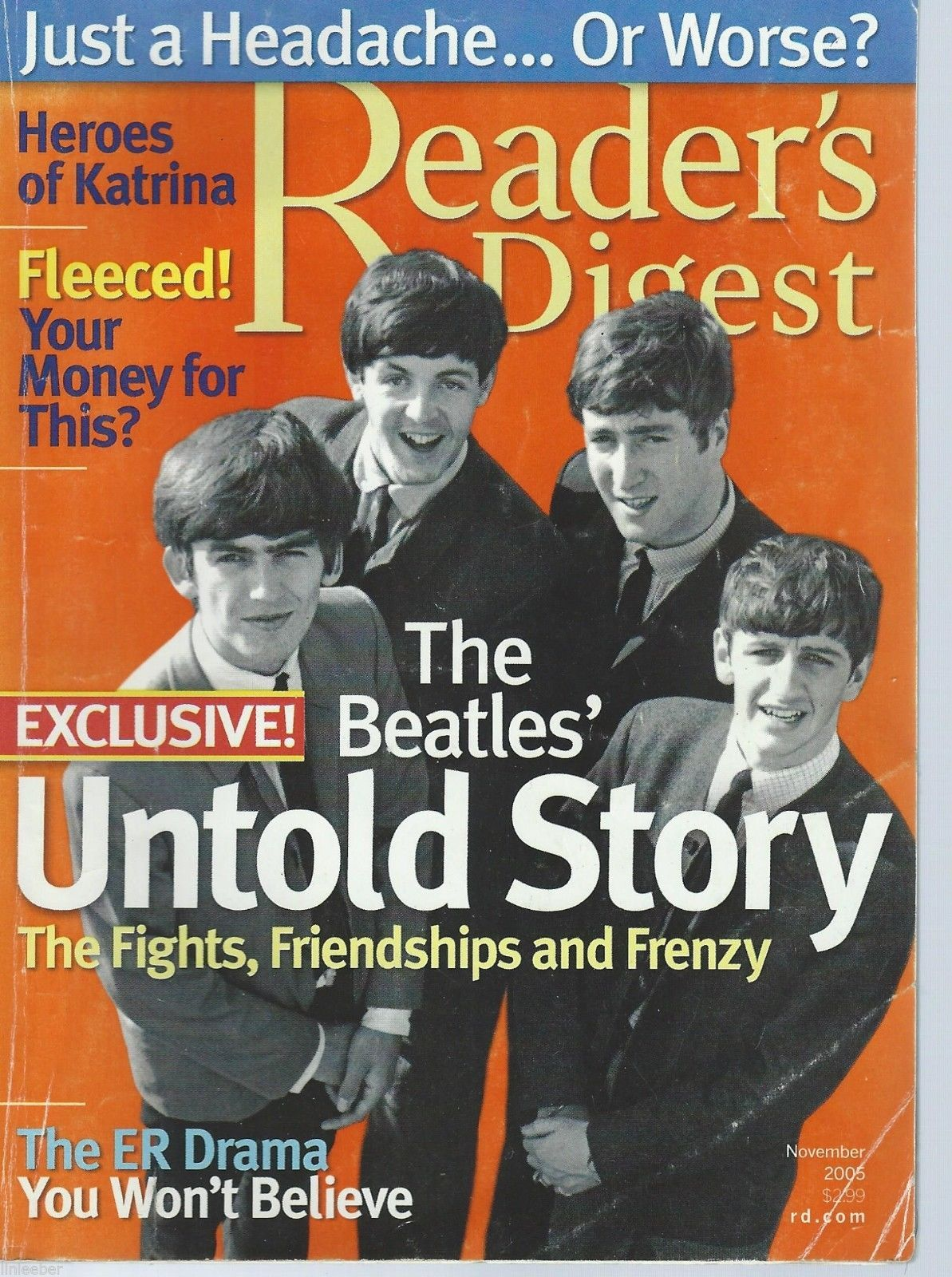 The Beatles' Untold Story-Fights,Friendships,and Frenzy;Reader's Digest,Nov.2005