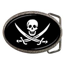 Pirate Symbol Chrome Finished Belt Buckle - Skeletons and Bones - $9.65