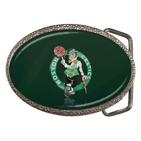 Boston Celtics Chrome Belt Buckle - NBA Basketball
