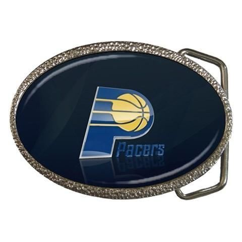 Indiana Pacers Chrome Belt Buckle - NBA Basketball