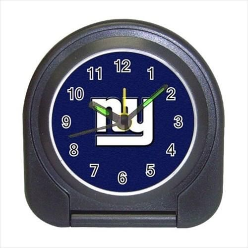 New York Giants Compact Travel Alarm Clock - NFL Football (Battery Included)