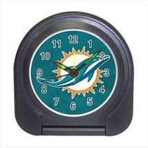 Miami Dolphins Compact Travel Alarm Clock - NFL Football (Battery Included) - $9.95
