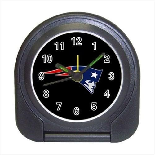New England Patriots Compact Travel Alarm Clock - Footbal (Battery Included)