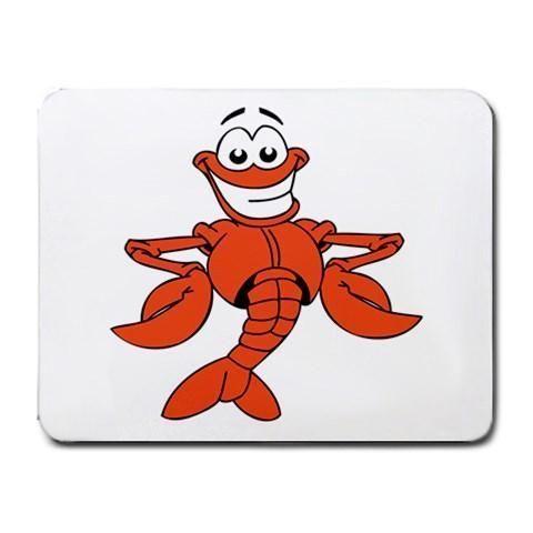 Smiling Lobster Mousepad - Cartoon Series #12