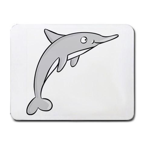 Gray Dolphin Mousepad - Cartoon Series #12=4