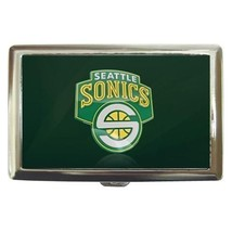 Seattle Super Sonics Cigarette, Money, Card Holder Case - NBA Basketball - $12.56