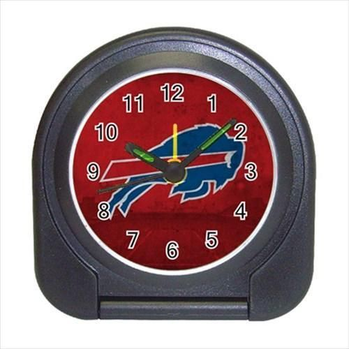 Buffalo Bills Compact Travel Alarm Clock - NFL Football (Battery Included)