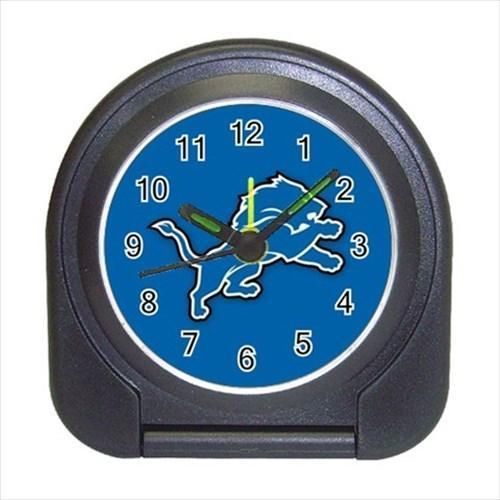 Detroit Compact Travel Alarm Clock - NFL Football  (Battery Included)