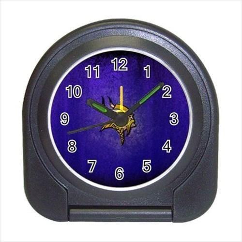 Minnesota Vikings Compact Travel Alarm Clock - NFL Football (Battery Included)