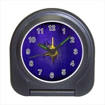Minnesota Vikings Compact Travel Alarm Clock - NFL Football (Battery Inc... - $9.95