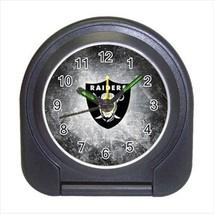 Oakland Raiders Compact Travel Alarm Clock - NFL Football (Battery Inclu... - $9.95