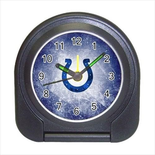 Indianpolis Colts Compact Travel Alarm Clock - NFL Football (Battery Included)