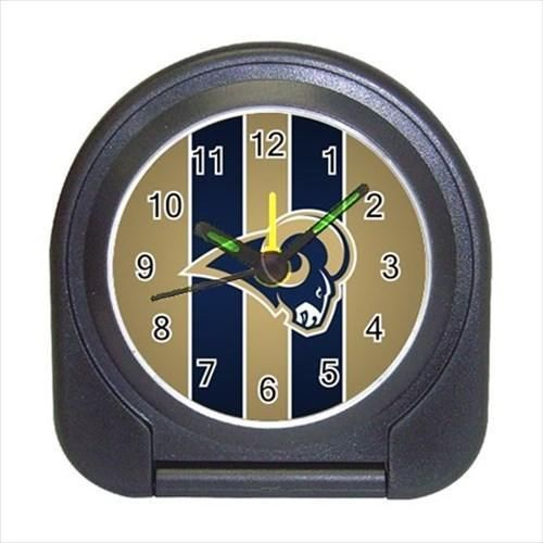 Saint Louis Rams Compact Travel Alarm Clock - NFL Football (Battery Included)