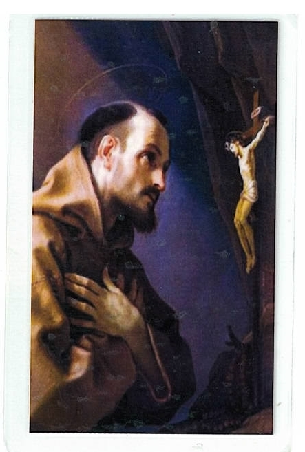 Laminated prayer card   san francisco de asis 300.0036 001