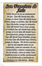 Laminated Prayer Card - San Francisco de Asis - L300.0036 image 2
