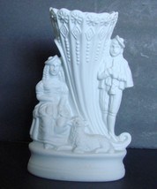Portmeirion Parian Ware Shepherd & Shepherdess Cornucopia Vase, The Brit... - $12.99