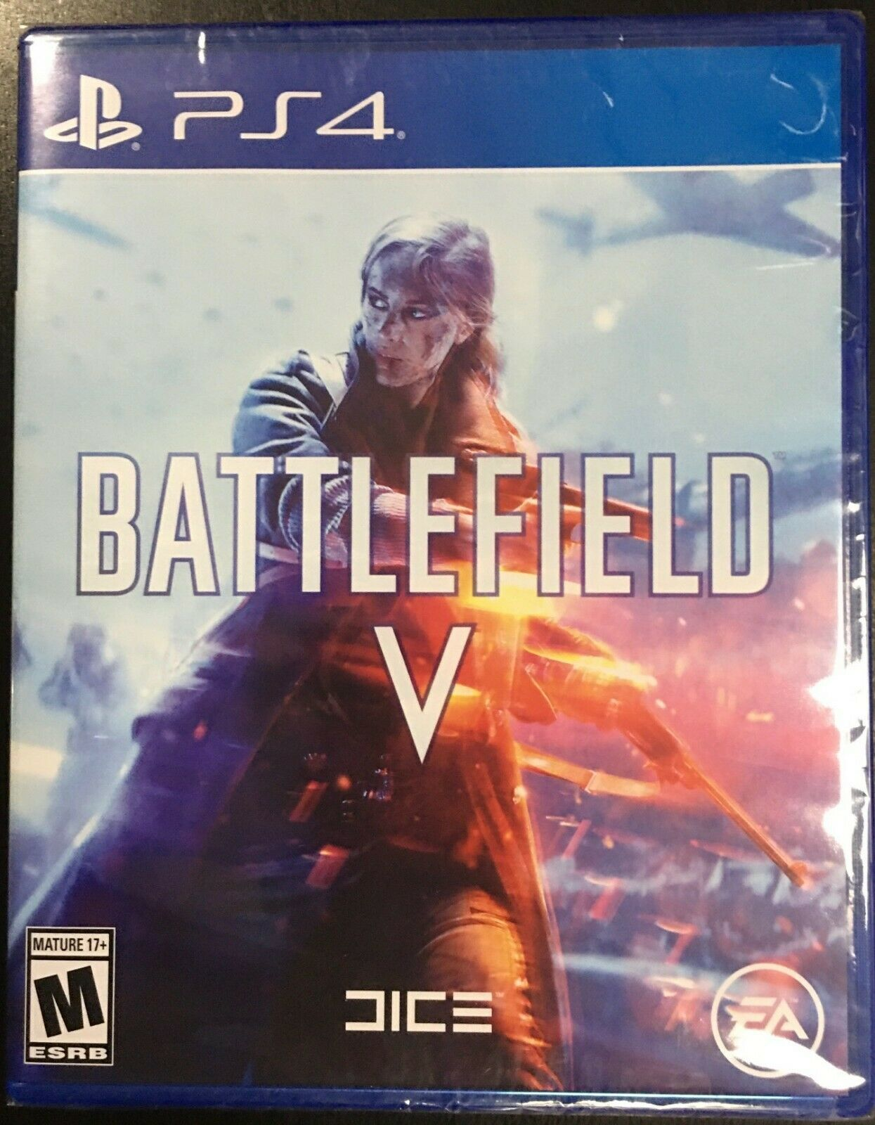 PS4 NEW Sealed Battlefield V PlayStation Video Game Region Free EA Mature
