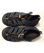 KEEN Navy Blue Sandals Girls Sz 3 PullString Hook Loop Closure Waterproof - $23.12