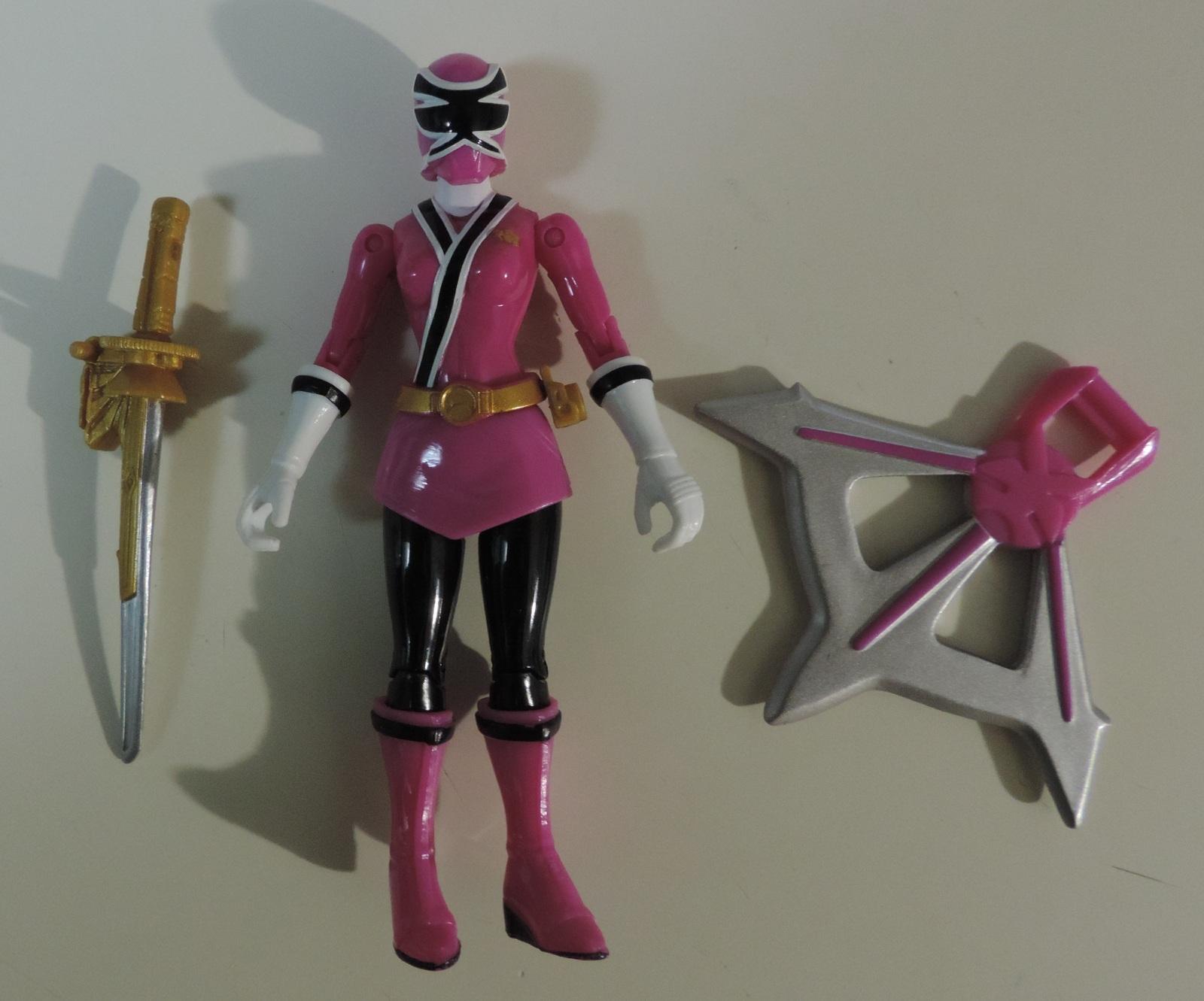 Bandai Saban Power Rangers Samurai lot of 3 Pink Sky, Gold Light & Yellow Earth