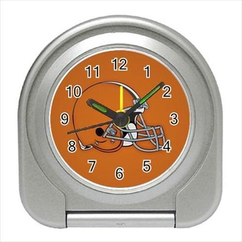 Cleveland Browns Compact Travel Alarm Clock - NFL Football (Battery Included)
