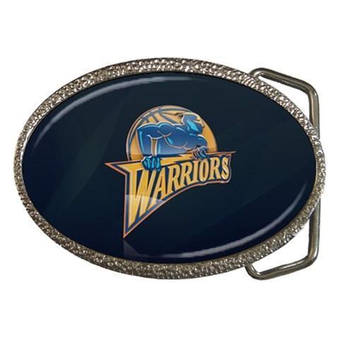 Golden State Chrome Belt Buckle - NBA Basketball