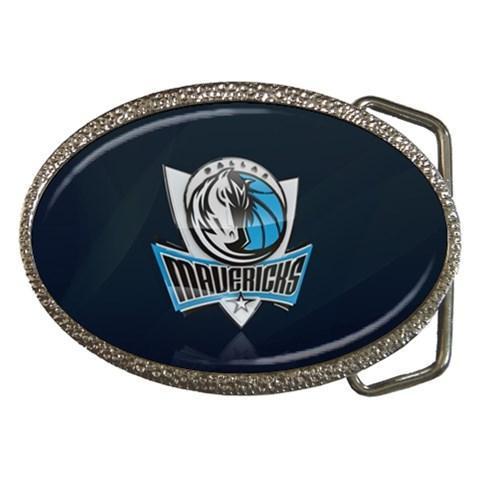 Dallas Mavericks Chrome Belt Buckle - NBA Basketball