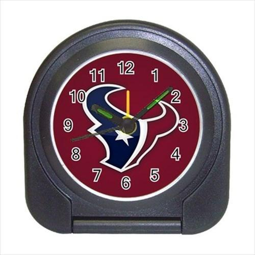 Houston Texans Compact Travel Alarm Clock - NFL Football (Battery Included)