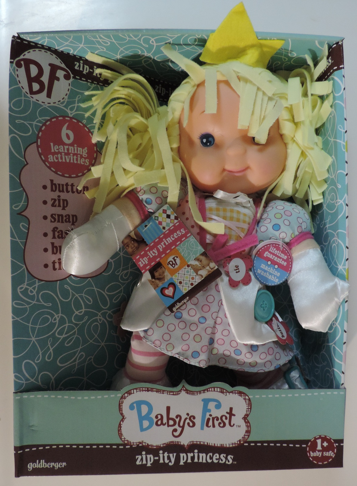 Baby's First Zip-Ity Princess learning activities doll - New