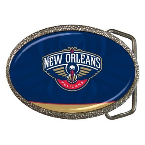 Orleans Pelicans Chrome Belt Buckle - NBA Basketball