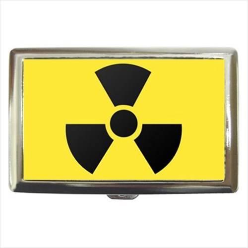 Radioactive Symbol Cigarette, Money, Card Holder Case - Atomic Danger