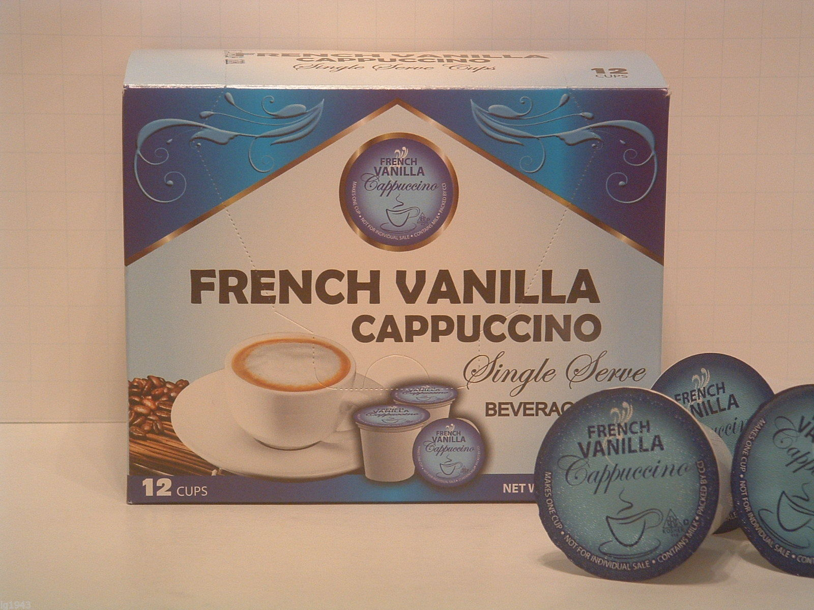 French Vanilla Cappuccino 12 Single Serve  K-Cup Brewer Free Shipping