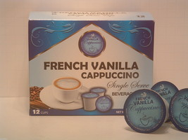 French Vanilla Flavored Cappuccino 12 Single Serve  K-Cup Brewer Free Sh... - $10.99