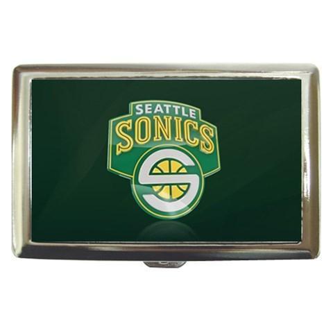 Seattle Super Sonics Cigarette, Money, Card Holder Case - NBA Basketball