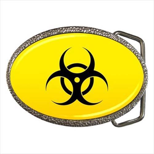 Bio-hazard Zinc Alloy Belt Buckle - Biological Contamination Alert Symbol/Sign