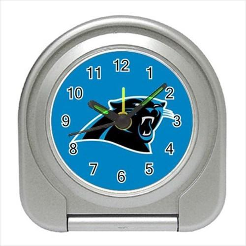Carolina Panthers Compact Travel Alarm Clock - NFL Football (Battery Included)