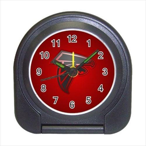 Atlanta Flacons Compact Travel Alarm Clock - NFL Football (Battery Included)