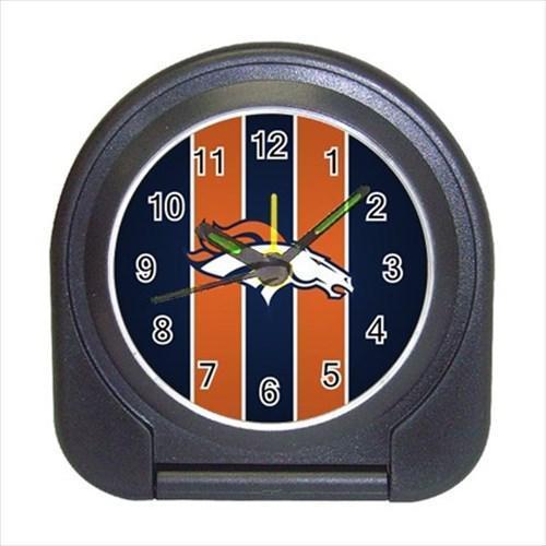 Denver Broncos Compact Travel Alarm Clock - NFL Football (Battery Included)