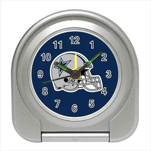 Dallas Cowboys Compact Travel Alarm Clock - NFL Football (Battery Included)