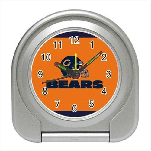 Chicago Bears Compact Travel Alarm Clock - NFL Football (Battery Included)