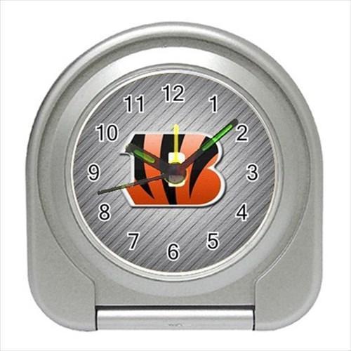 Cincinnati Bengals Compact Travel Alarm Clock - NFL Football (Battery Included)