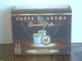 Caffe de Aroma Flavored Chocolate Amaretto 12 K-Cups Free Shipping - $10.45