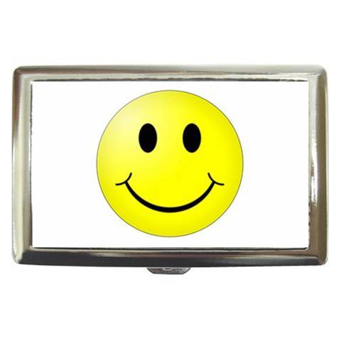 Smiley Face Cigarette, Money, Card Holder Case - Be Happy and Keep Smiling
