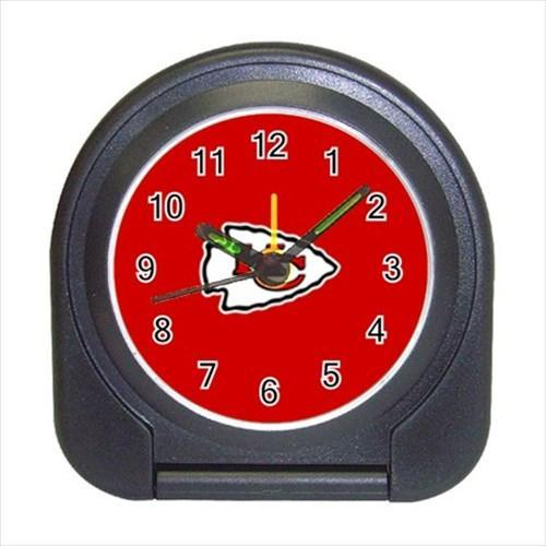 Kansas City Compact Travel Alarm Clock - NFL Football (Battery Included)