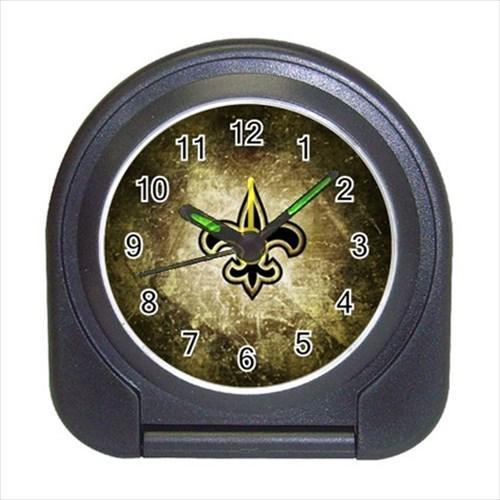 New Orleans Saints Compact Travel Alarm Clock - NFL Football (Battery Included)