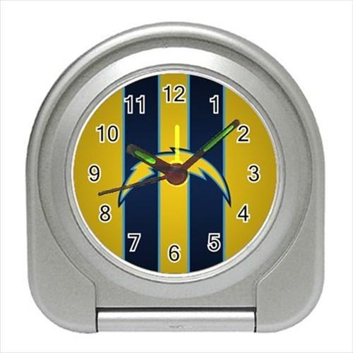 San Diego Chargers Compact Travel Alarm Clock - NFL Football (Battery Included)